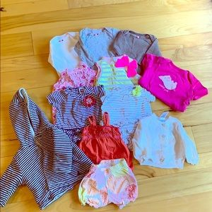 Gap and Carters Newborn Summer Lot 12 items